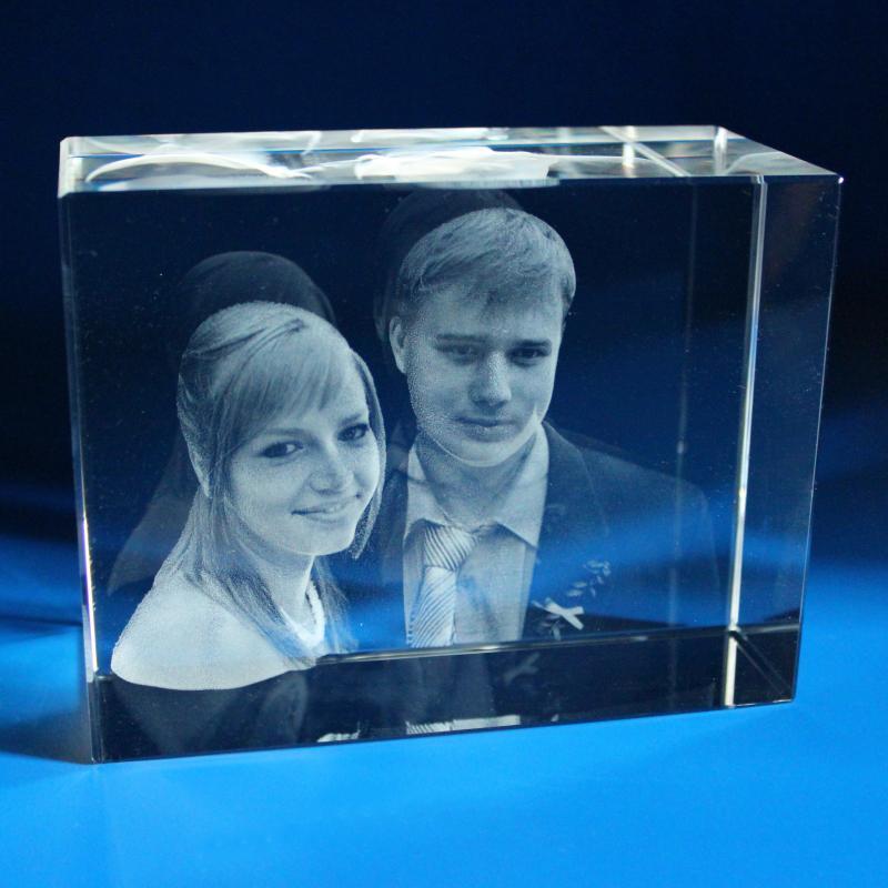 627814415 3D PORTRÉT ve skle   3D 3 PORTRÉTY ve skle 130x100x60 mm   originální a  moderní dárky, fotky ve skle, 3D portrét, foto ve skle, 3D sklo