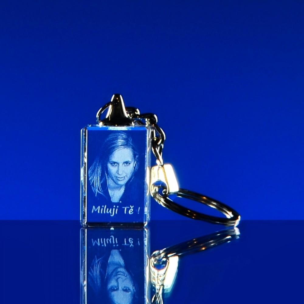 f2c88cfde 3D PORTRÉT ve skle   3D Laserovaná fotografie do skla - Portrét v klíčence  30x20x15 mm (P103)   originální a moderní dárky, fotky ve skle, 3D portrét,  ...